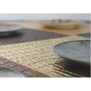 INDIVIDUAL CROCODILE CLEAR GOLD DE 45X30 CM X 6 PZ
