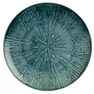 PLATO LLANO DE COMIDA 28 CM FUSION BLUE X 4 UND